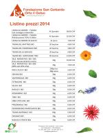 Listino prezzi 2014 - Fondazione S.Gottardo