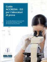 """Guida ACCREDIA ISS per i Laboratori di prova """"Il controllo ufficiale"""