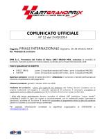 FINALE INTERNAZIONALE (Lignano, 16-19 ottobre