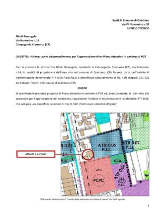 Allegato alla delibera di Giunta comunale n. 3 del 24/2/2014