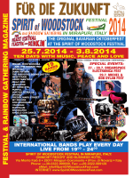 2014 Download PDF - Spirit of Woodstock Festival in Mirapuri, Italy