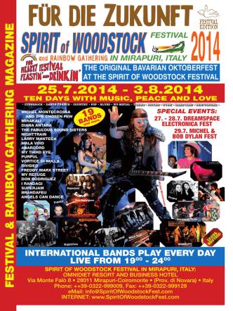 2014 Download PDF - Spirit of Woodstock Festival in Mirapuri, Italy