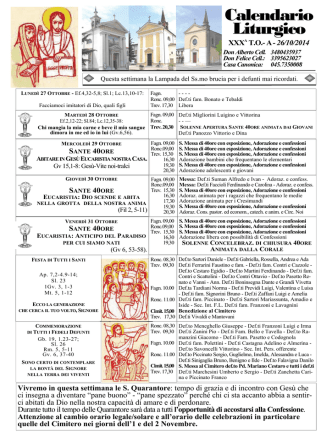 Calendario Liturgico - Il Portale di fagnano