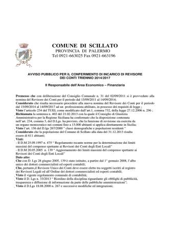 CO OMUNE DI SCILLATO - Comune di Scillato