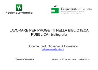 Bibliografia prof Di Domenico