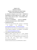 Bando di gara – 360 Kbyte (*)
