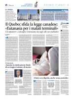 Il Quebec sfida la legge canadese: «Eutanasia per i malati terminali»