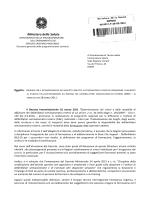 Circolare Ministero della Salute DGPROGS prot