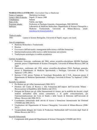CV Lavitrano - Gazzetta Amministrativa