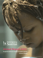 Annual Report 2013 - Emergenza Sorrisi