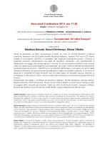 Mercoledì 3 settembre 2014, ore 17.30 Beatrice Bonato, Raoul