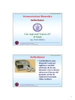Strumentazione Biomedica Defibrillatori