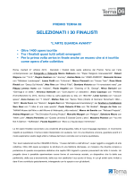 Comunicato Stampa Premio Terna 06. Selezionati i 30 finalisti.