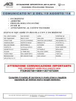 comunicato n. 3 del 20/08/2014