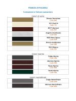 POMEZIA AVVOLGIBILI Colorazioni e finiture zanzariere Colori di