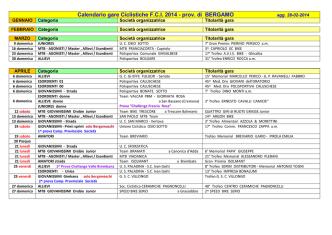 Calendario gare FCI Bergamo stagione 2014