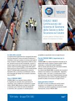 OHSAS 18001 Certificazione del Sistema di Gestione