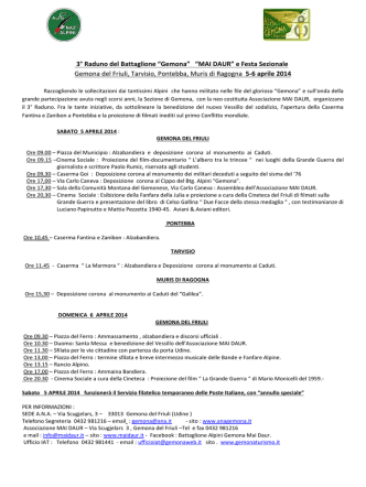 clicca qui - Battaglione Alpini Gemona