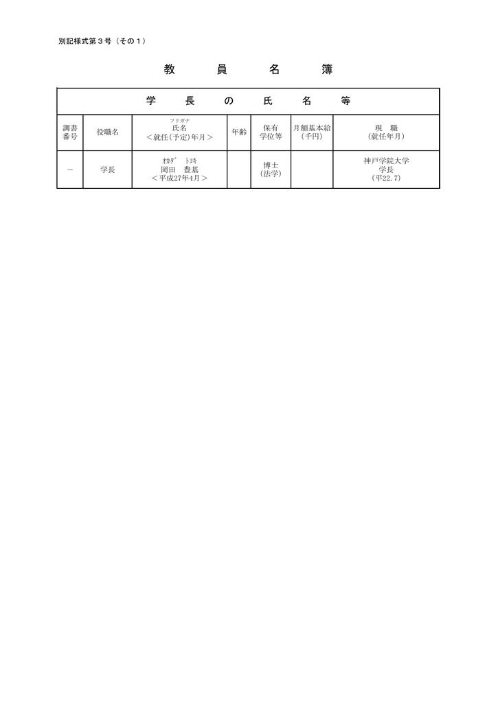 (6)教員名簿