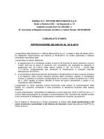 APPROVAZIONE BILANCIO AL 30.6.2014