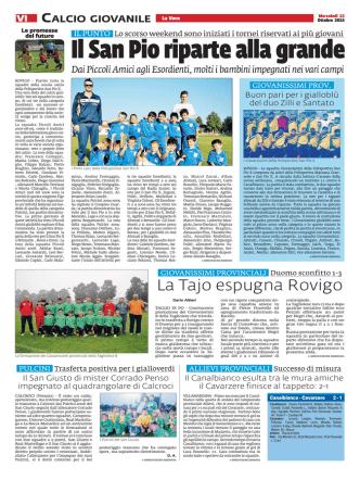 Calcio giovanile Il Cavarzere finisce al tappeto