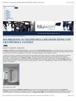 SFA PRESENTE AL SALONE DELLA RICOSTRUZIONE CON