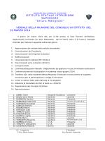 Estratto delibere C.I. del 20 Marzo 2014