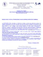 comunicato stampa startup - FIDAPA Distretto Sud-Est