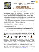 SWING EXPO 2015 2 marzo - Rotary Club Brescia Moretto