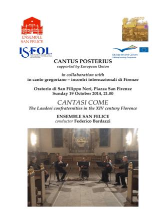Concert Ensemble San Felice Posterius Florence