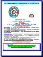 35° CAMPIONATO ITALIANO DI TIRO AD AVANCARICA La
