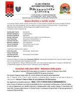 Briefing 1 2014 - club venezia automotostoriche