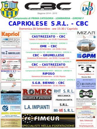 CAPRIOLESE S.R.L. - CBC - CazzagoBornato Calcio
