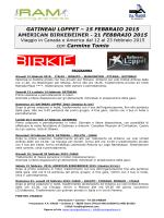 GATINEAU LOPPET – 15 FEBBRAIO 2015 AMERICAN BIRKEBEINER