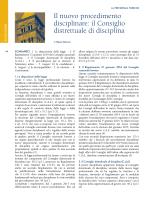 il Consiglio distrettuale di disciplina