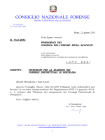 circolare CNF n. 13-C-2014 - Istruzioni per la elezione dei
