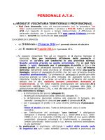 Notizie Mobilità ATA 2014-2015