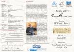 I Corso estivo di Canto Gregoriano