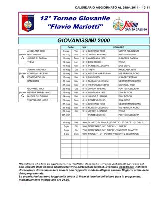 cal torneo 20142 - ASD Santa Sabina Calcio
