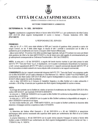 CITTADI CAL - Comune di Calatafimi Segesta