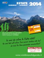 Folder Estate Card 2014 - Consorzio Dimaro Folgarida Vacanze