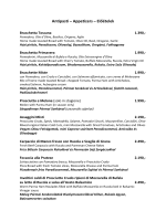 Antipasti – Appetizers – Előételek