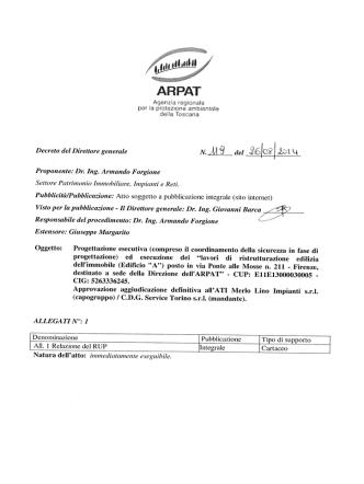 deHa roscana Decreto del Direttore generale N.______ del