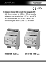 GW 90 764 - CVD type Attuatore dimmer KNX per LED