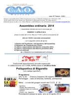 Assemblea ordinaria 2014 Polisportiva di Bigarello