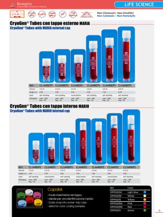 CryoGen® Tubes con tappo esterno MARIA CryoGen