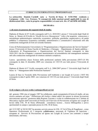 curriculum - Dipartimento di Medicina molecolare e dello sviluppo