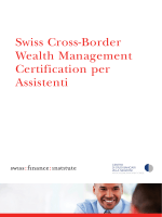 Swiss Cross-Border Wealth Management Certification per Assistenti