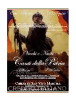 vecchi e nuovi canti della patria - Associazione Nazionale Artiglieri d