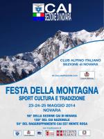 FESTA DELLA MONTAGNA - CAI Sezioni Est Monte Rosa